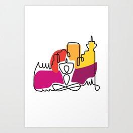 Urban Yoga Graphic Art Print