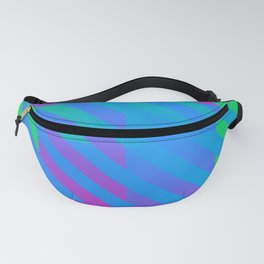 Polysexual Pride Diagonally Striped Checkered Squares Fanny Pack