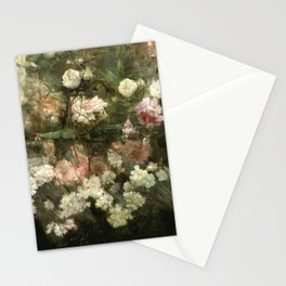 Vintage Rose Painting Stationery Cards