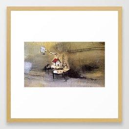 Red Mountain Cabin Framed Art Print