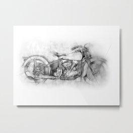 HARLEY KNUCKLEHEAD Metal Print