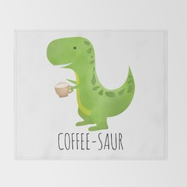 Coffee-saur Throw Blanket
