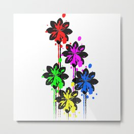 Multi coloured flower bouquet Metal Print