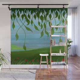 Spring landscape Wall Mural