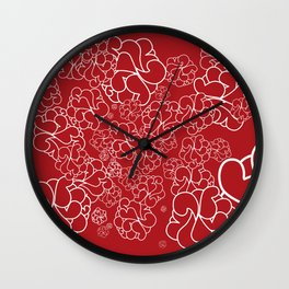 Abstract furoshiki Wall Clock