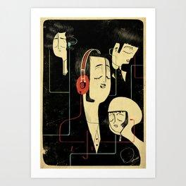 乐 Music Lovers / Vintage Art Print