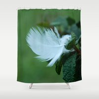 feather Shower Curtains featuring Feather by MCADesign
