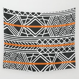 Tribal ethnic geometric pattern 022 Wall Tapestry