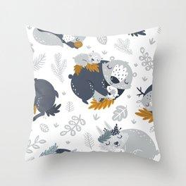 Sleeping animals Throw Pillow