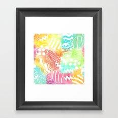 Watercolored Eggs Framed Art Print