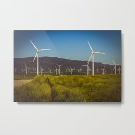 Group of fans in the mountains. Metal Print