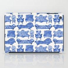 Victorian Lounge – Navy Palette iPad Case