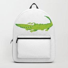 Green Clear Crocodile Backpack