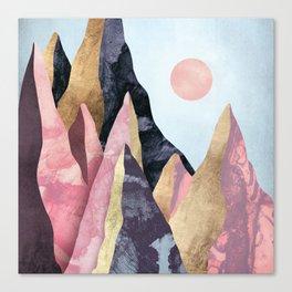 Mauve Peaks Canvas Print