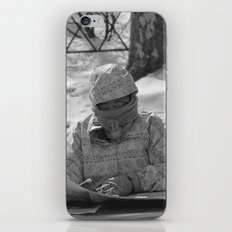 Reading the forecast in NYC iPhone & iPod Skin