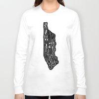 manhattan Long Sleeve T-shirts featuring Manhattan by Robert Farkas