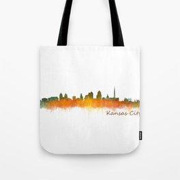 Kansas City Skyline Hq v2 Tote Bag