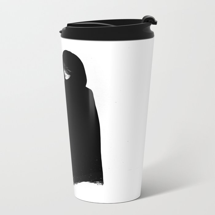 Absentia in white Metal Travel Mug