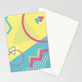 San Jose 1991 - Memphis Throwback Retro 1990s 80s Trendy Hipster Pattern Pastel Stationery Cards
