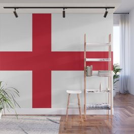 Flag of England (St. George's Cross) - Authentic version to scale and color Wall Mural