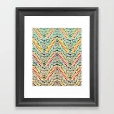 TEEPEE OMBRE Framed Art Print
