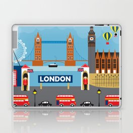 London, England - Collage Illustration by Loose Petals Laptop & iPad Skin