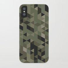 Isometric Camo Slim Case iPhone X