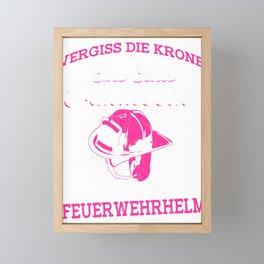 Fire department Perinzessin wears helmet Framed Mini Art Print