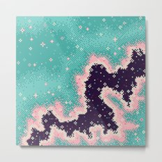 Pink and Mint Rift Galaxy (8bit) Metal Print