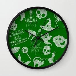 Green Chalkboard Wall Clock