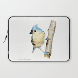 Tufted Titmouse by Teresa Thompson Laptop Sleeve
