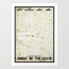 Enemy of the State - minimal poster Art Print