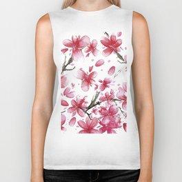 Cherry Blossoms #society6 #buyart Biker Tank
