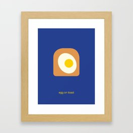 egg on toast Framed Art Print