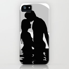 Lovers Black and White iPhone Case