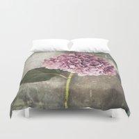 hydrangea Duvet Covers featuring Hydrangea  by Maria Heyens