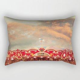 Wonderful Whirled Carousel Rectangular Pillow