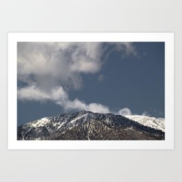 Winter in the San Gabriel Mountains Art Print
