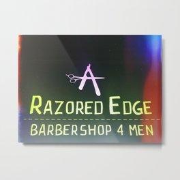 Razored Edge Barbershop Metal Print