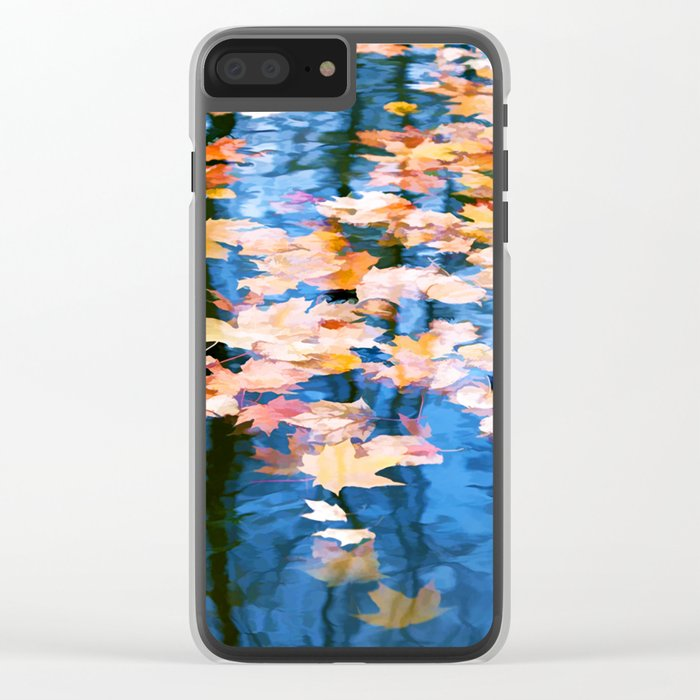 Fallen leaves in water Clear iPhone Case