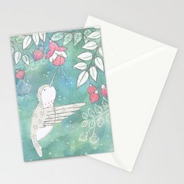 Hummingbird's Garden: In the fuschias Stationery Cards