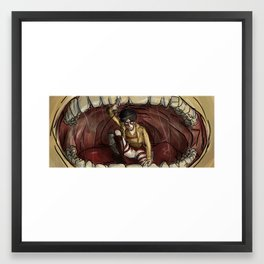 In The Titan's Mouth Framed Art Print