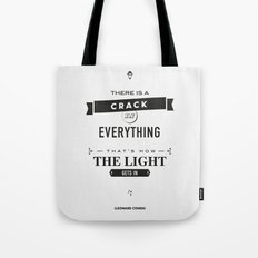 Leonard Cohen, Motivational Quote Tote Bag