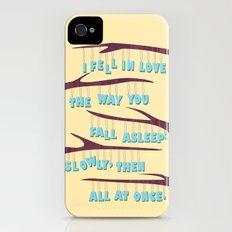 Asleep iPhone (4, 4s) Slim Case