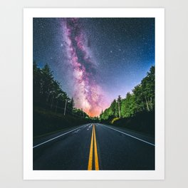 Milky Way at US Road (USA) Art Print