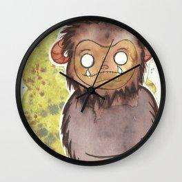 Ludo print,Brown Ludo, Cute Monster, Kawaii Ludo, Wall Clock
