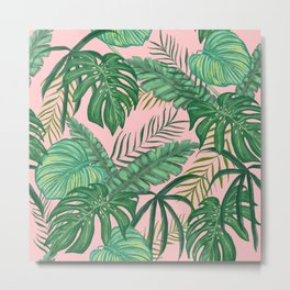 Tropical Greens Metal Print