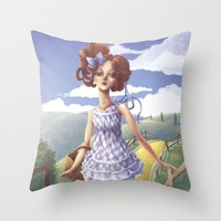 dorothy Throw Pillows featuring Dorothy by FReMO