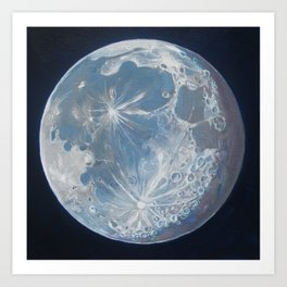 Moon Portrait 6 Art Print