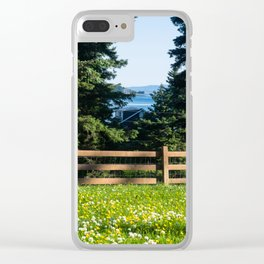 Alaska Flower Field Clear iPhone Case